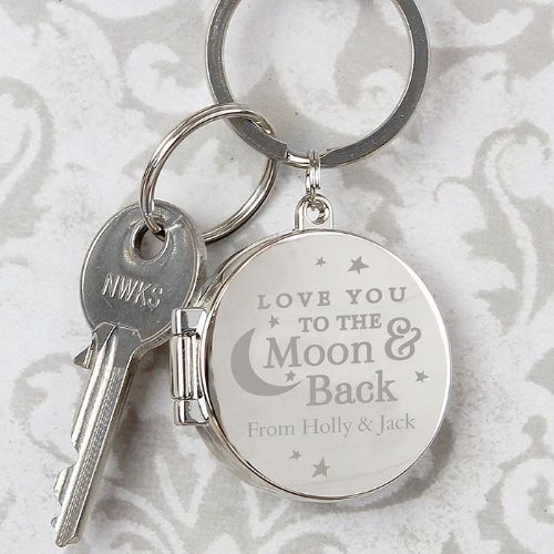 Personalised To the Moon and Back Photo Frame Keyring